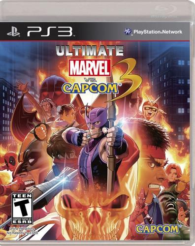 ultimate marvel vs capcom 3 ps3 playstation disco físico