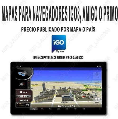 ultimo mapa mexico 2018 q1 p/ gps igo primo igo8 envio al @