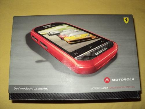 ultimo nextel motorola smartphone i867r ferrari nuevo
