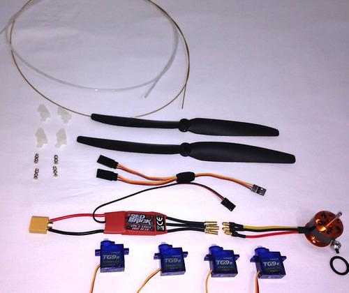 ultra combo eletrônica + linkagem para aeromodelos até 750g