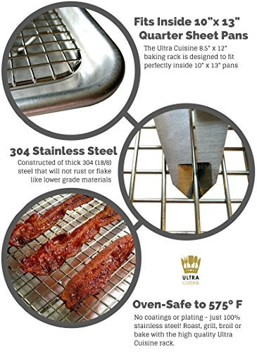 ultra cuisine 100% de acero inoxidable alambre de refrigera