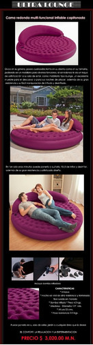ultra lounge bed inflable - comodidad y sofisticacion