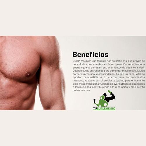 ultra mass (ganador de peso y masa muscular tu suplemento)