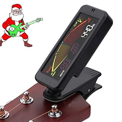 ultra portable low-profile clip-on tuner for guitar,ukulele,