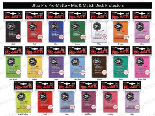 ultra pro matte sleeves shields 50 unidades magic pokemon