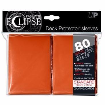 ultra pro sleeve matte eclipse laranja standard lançamento