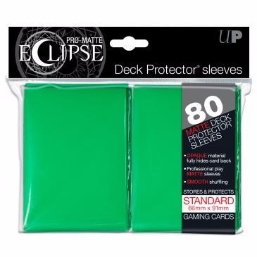 ultra pro sleeve matte eclipse verde standard lançamento