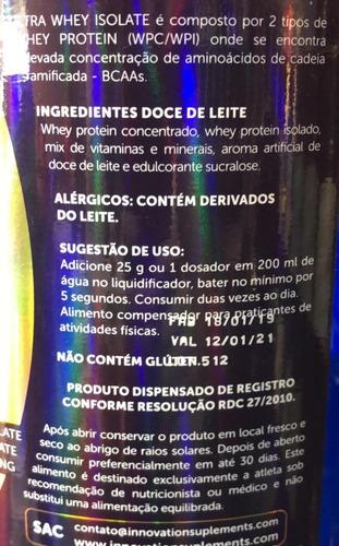 ultra whey isolate 1,8kg importado lacrado varios sabores