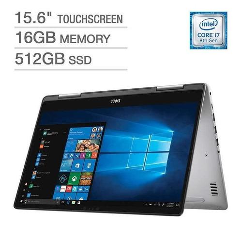 ultrabook 2 en 1 dell i7 8va quad core 16gb ram ssd 512gb nvidia mx130 2gb pantalla uhd 4k 15,6 lapiz opticotouch