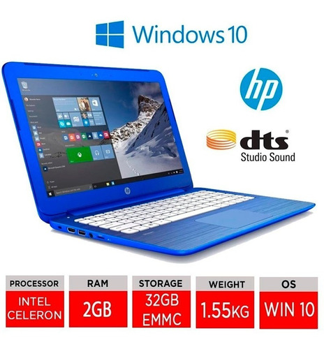ultrabook hp stream 13 azul. impecable