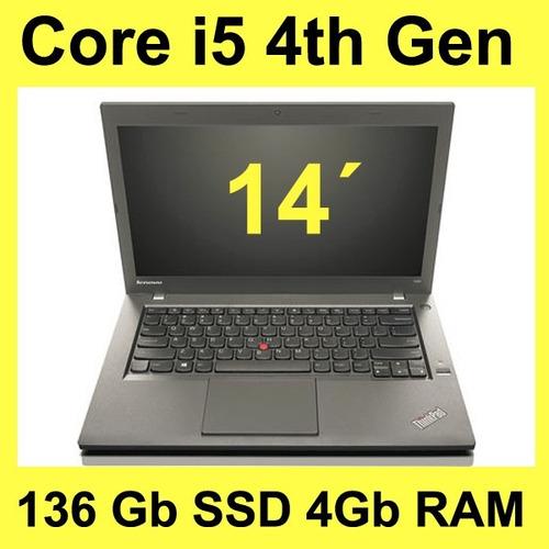 ultrabook lenovo thinkpad t440p i5 4th gen 136 ssd 4gb ram