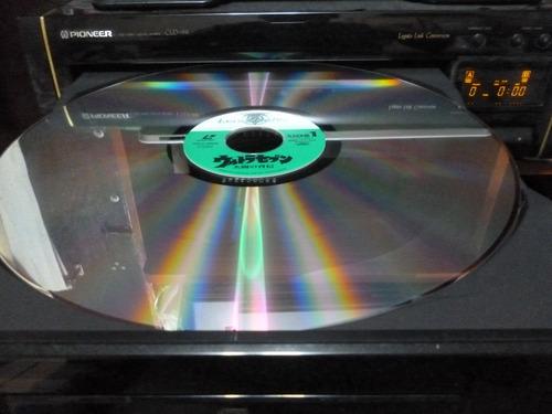 ultrasiete , 3 discos laserdisc - vintage