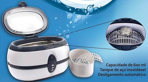 ultrasom digital para limpeza 600ml solver + acessórios 220v
