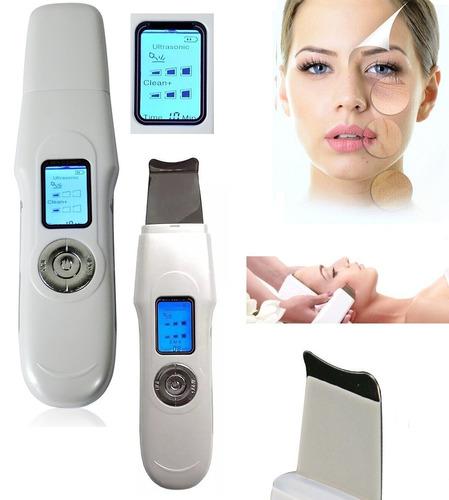 ultrasonido scrubber paleta microdermoabrasión acné