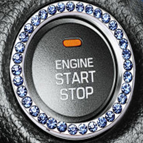 um botão começo botão ignição anel decorativo quadro