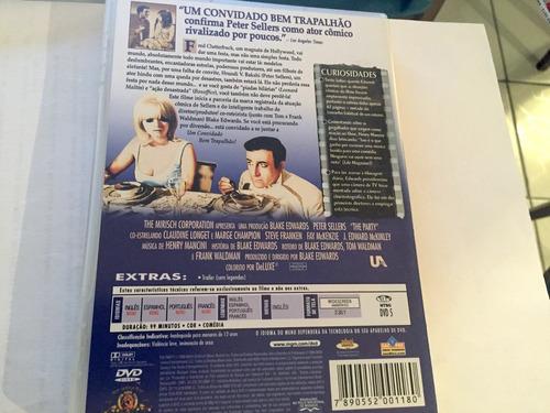 um convidado bem trapalhão dvd peter sellers original raro