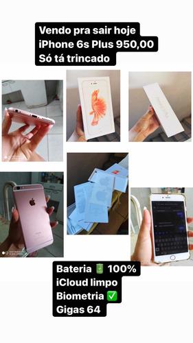 um iphone 6s plus sime novo só com um trinco na tela