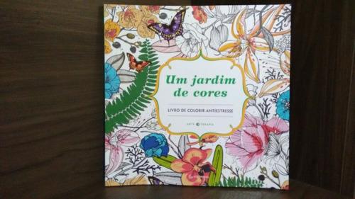 um jardim de cores livro de colorir anti estresse