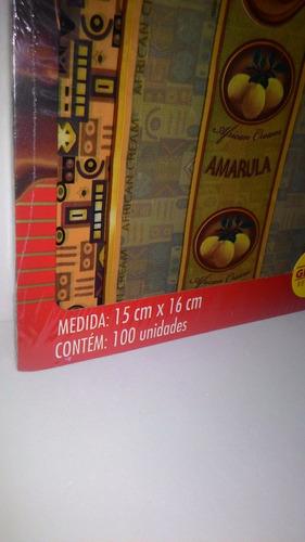 um kit embalagens cromus para trufas e bombons sabor amarula
