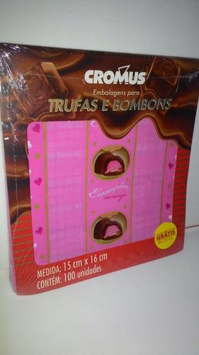 um kit embalagens cromus para trufas e bombons sabor emoção!