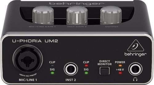 um2 interface placa de audio usb behringer u-phoria um-2