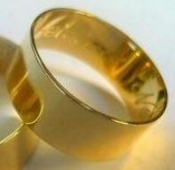 uma aliança 7 milimetros ouro maciço 18k puro 3 gr
