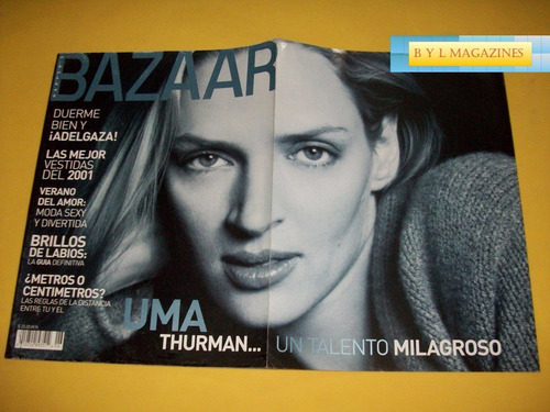 uma thurman revista harpers bazaar mexico 2001 kill bill