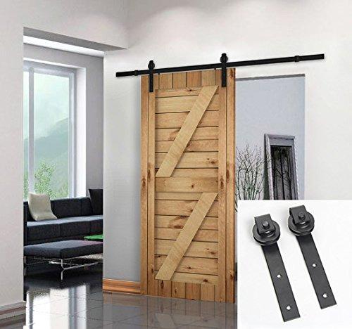 Umax puerta granero madera deslizante 6 6 ft basic sliding for Puerta granero madera