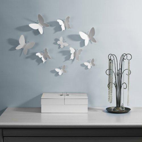 umbra mariposa set de 9 de pared decoración mariposa