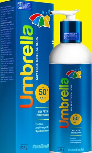 umbrella water proof resistente al agua spf 50+ 225 gramos