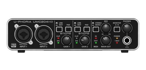 umc204hd interface de audio usb u-phoria - behringer - com nota fiscal e garantia de 2 anos proshows !