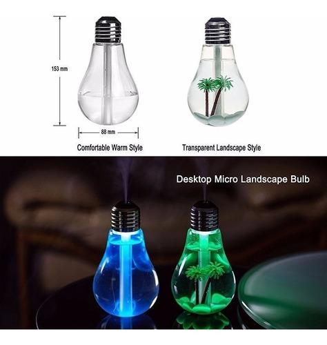 umidificador aromatizador de ar portatil mini com luminaria