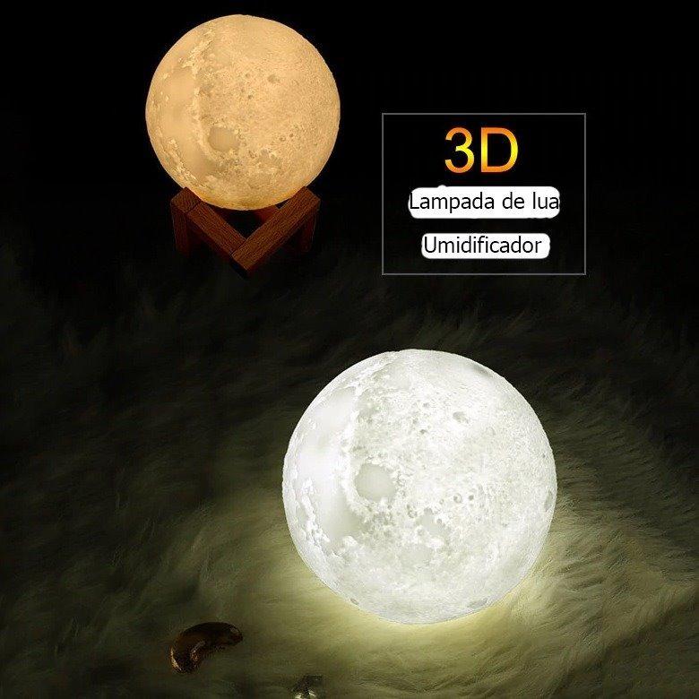 2cc254c5d Umidificador Aromatizador Purificador De Ar Lua Led + Filtro - R$ 158,90 em  Mercado Livre