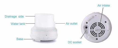 umidificador de ar difusor de aromaterapia ultra-sônica