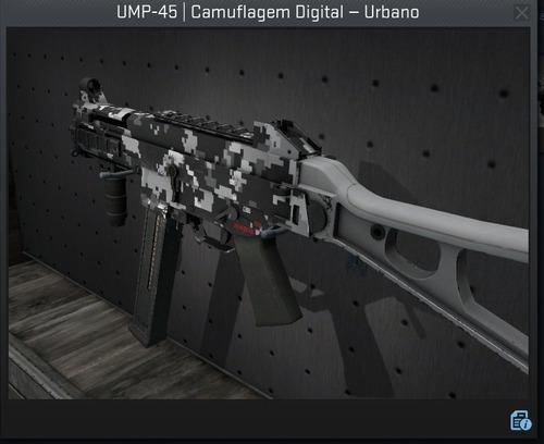 ump-45 camuflagem digital urbano - csgo skin pedido