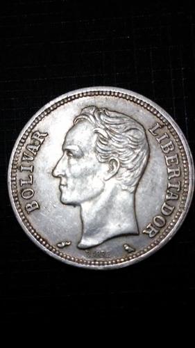 un (1) bolivar de plata 1960. alto grado  leer descripción