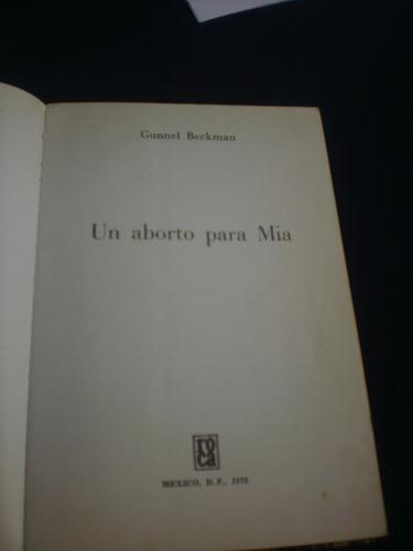 un aborto para mia - gunnel beckman