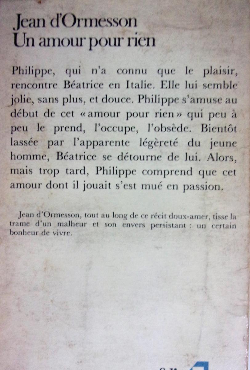 Un Amour Pour Rien Jean Dormesson 10000