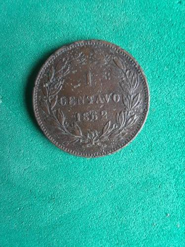 un centavo monaguero 1862