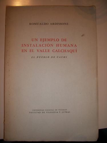 un ej. de instalacion humana en el v. calchaqui/ardissone z8