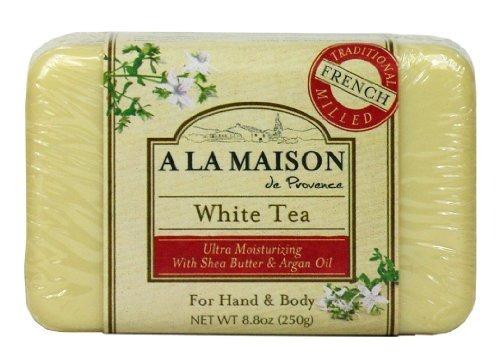 un jabón sólido para barra la maison, té blanco, 8.8 onza