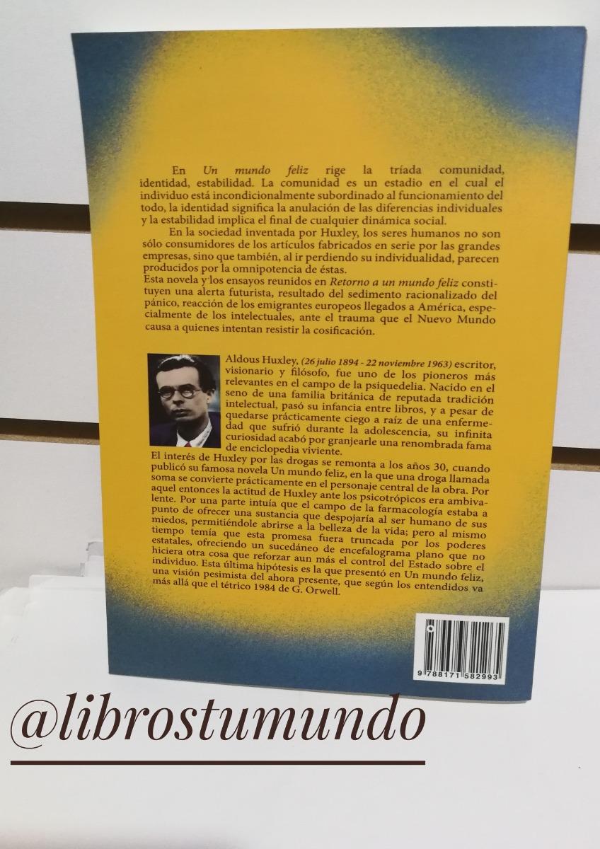 Un Mundo Feliz Aldous Huxley Libro Nuevo Recomendado - U$S