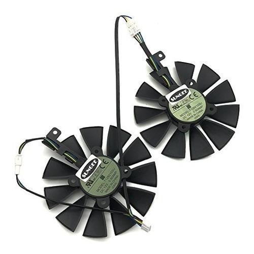 un par ventilador de 87mm para asus gtx10601070ti rx 470