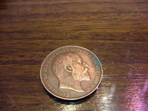 un penique 1907 - eduardo vii de gran bretaña