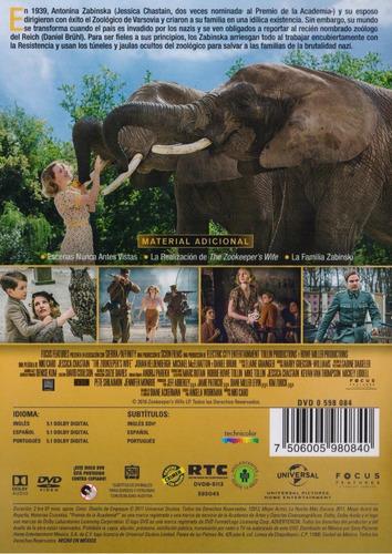 un refugio inesperado the zookeepers wife pelicula dvd