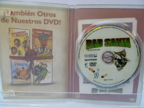 un santa no tan santo bad santa dvd original 1ad