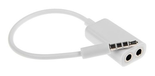 un splitter cable 3.5mm audio auriculares iphone ipod ipad