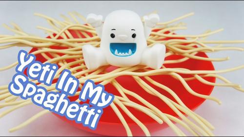 un yeti en mi spaghetti juego mesa tv original mundo manias