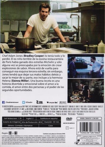 una buena receta burnt bradley cooper pelicula dvd