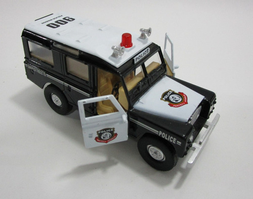una camioneta land rover larga antigua escala 13cm coleccion